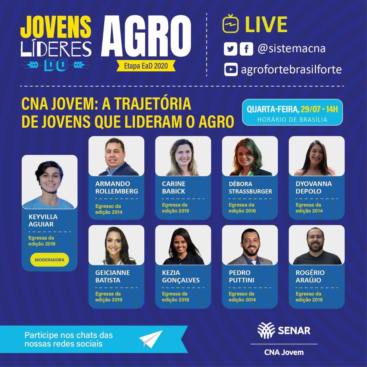 Live: CNA Jovem – a trajetória de jovens que lideram o agro